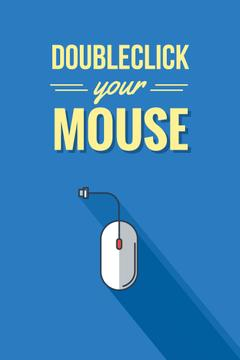 Doubleclick your mouse in blue