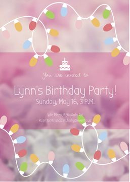 Birthday Party Garland Frame in Pink