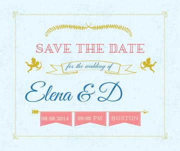 Save the Date Decorative Frame with Cupids