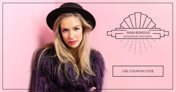 Ecological fur coats fashion ad