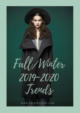 Fashion fall collection ad