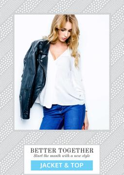 Fashion clothes collection advertisement