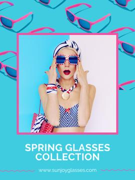 Spring Collection with Beautiful Girl in Sunglasses