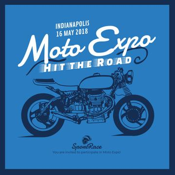 Moto Expo ad with Sport Motorcycle