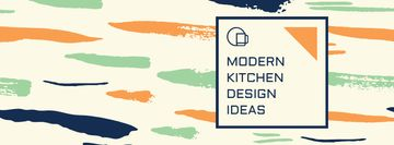Kitchen Design Ad with Colorful Smudges