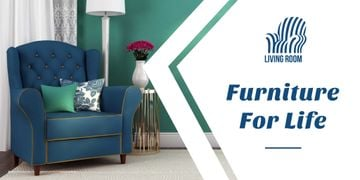 Furniture advertisement with Soft Armchair