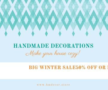 Handmade decorations sale on Pattern in Blue