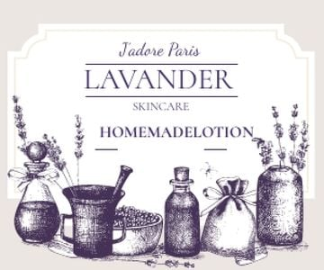 Lavender skincare illustration