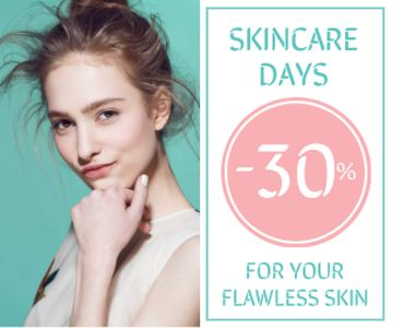 Skincare Products Sale Girl with Glowing Skin