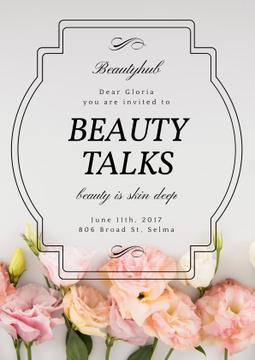 Beauty talks invitation