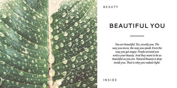 Beauty inspirational quote poster