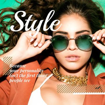 Beautiful Stylish Woman in Eyeglasses