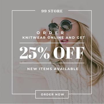 Online order Discount with Stylish Woman