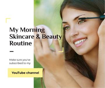 Beauty Blog Ad Woman applying Mascara