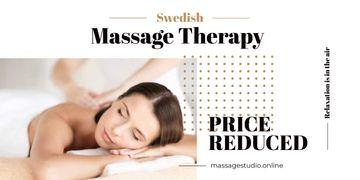 advertisement of massage therapy salon