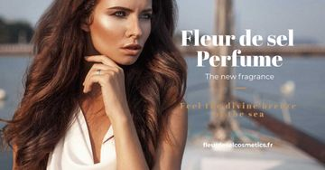 New perfume Ad with beautiful young woman