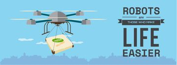 Innovation concept with Delivery Drone