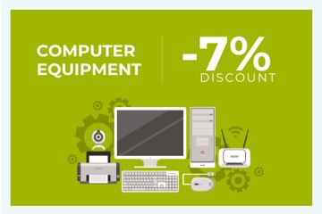 Discount card for computer equipment