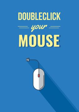 Doubleclick your mouse Quote in Blue