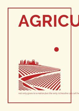 Agriculture company Ad Red Farmland Landscape