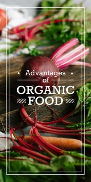 advantages of organic food poster