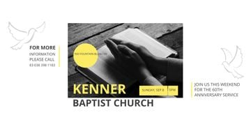 Baptist Church Invitation with Prayer's Palms