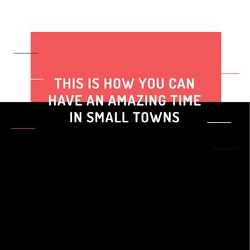 Small Towns Lifestyle quote
