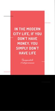 City Lifestyle quote on Buildings silhouettes