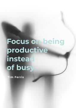 Citation about a being productive