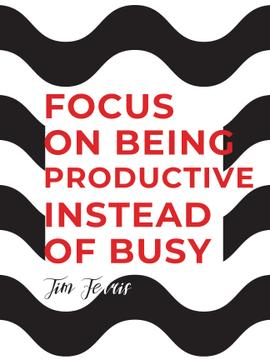 Productivity Quote on Waves in Black and White