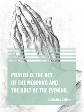 Religion Invitation with Hands in Prayer