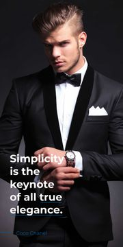 Simplicity is the keynote of all true elegance poster