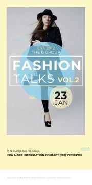 Fashion talks poster