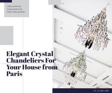 Elegant crystal Chandeliers offer