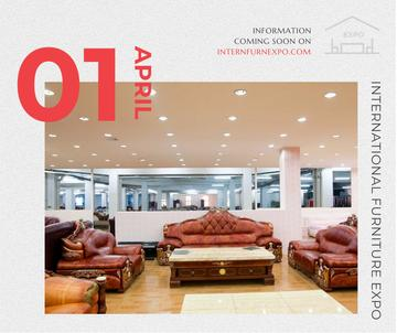 Furniture Expo invitation with modern Interior