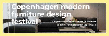 Interior Decoration Event Announcement Sofa in Grey