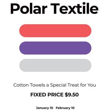 Textile towels offer colorful lines