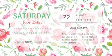 Saturday eco talks
