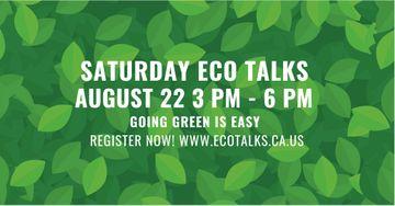 Saturday eco talks on Green leaves pattern