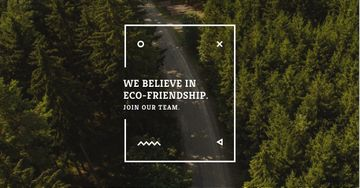 Eco-friendship concept in forest background