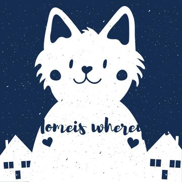Cat Quote with Funny Kitty in city