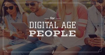 Young people with digital gadgets