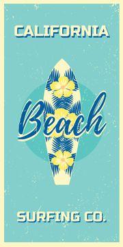 California beach surfing card