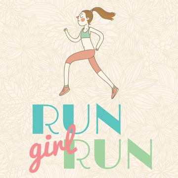 Workout Inspiration Girl Running