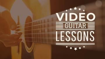 Music Lessons Ad with Man Playing Guitar