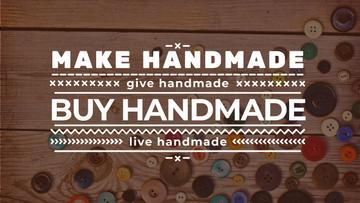 Handicrafts store with buttons