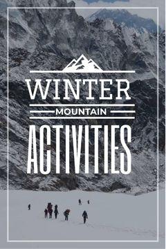 mountain hiking travel poster