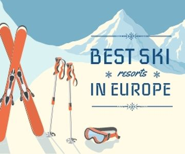 best ski resorts in Europe poster