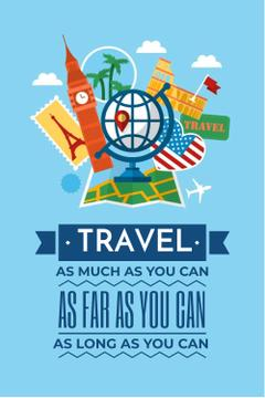 Travel motivational slogan