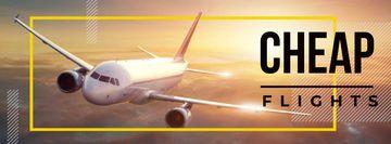 Cheap flights advertisement